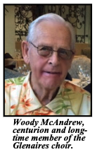 Woody McAndrew, Centurion And Long Time Member Of The Glenaires Choir.