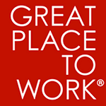 Great Place to Work logo on red square