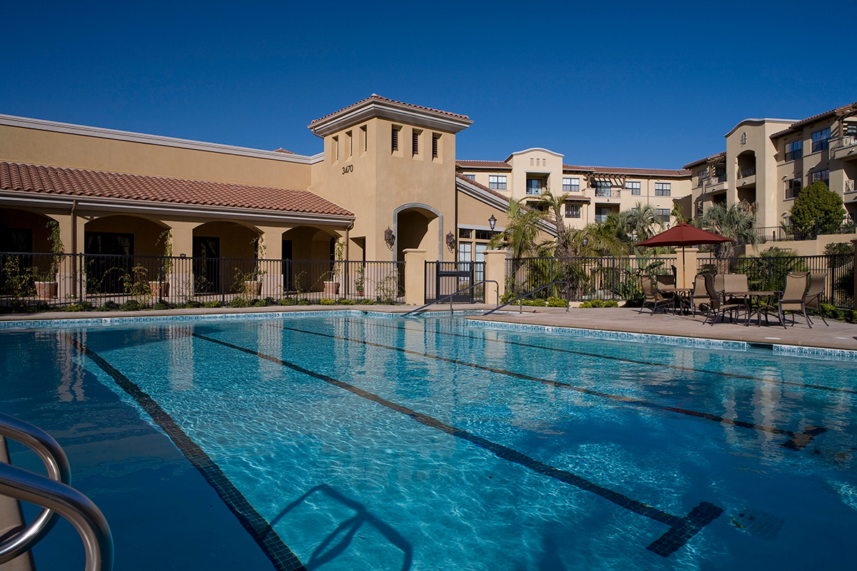 Large pool with club house.