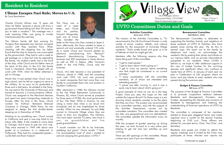 Village View March Newsletter