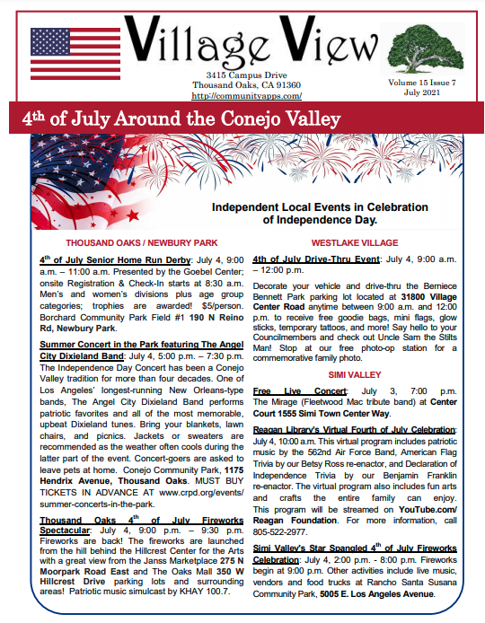 Newsletter For July Read The Village View