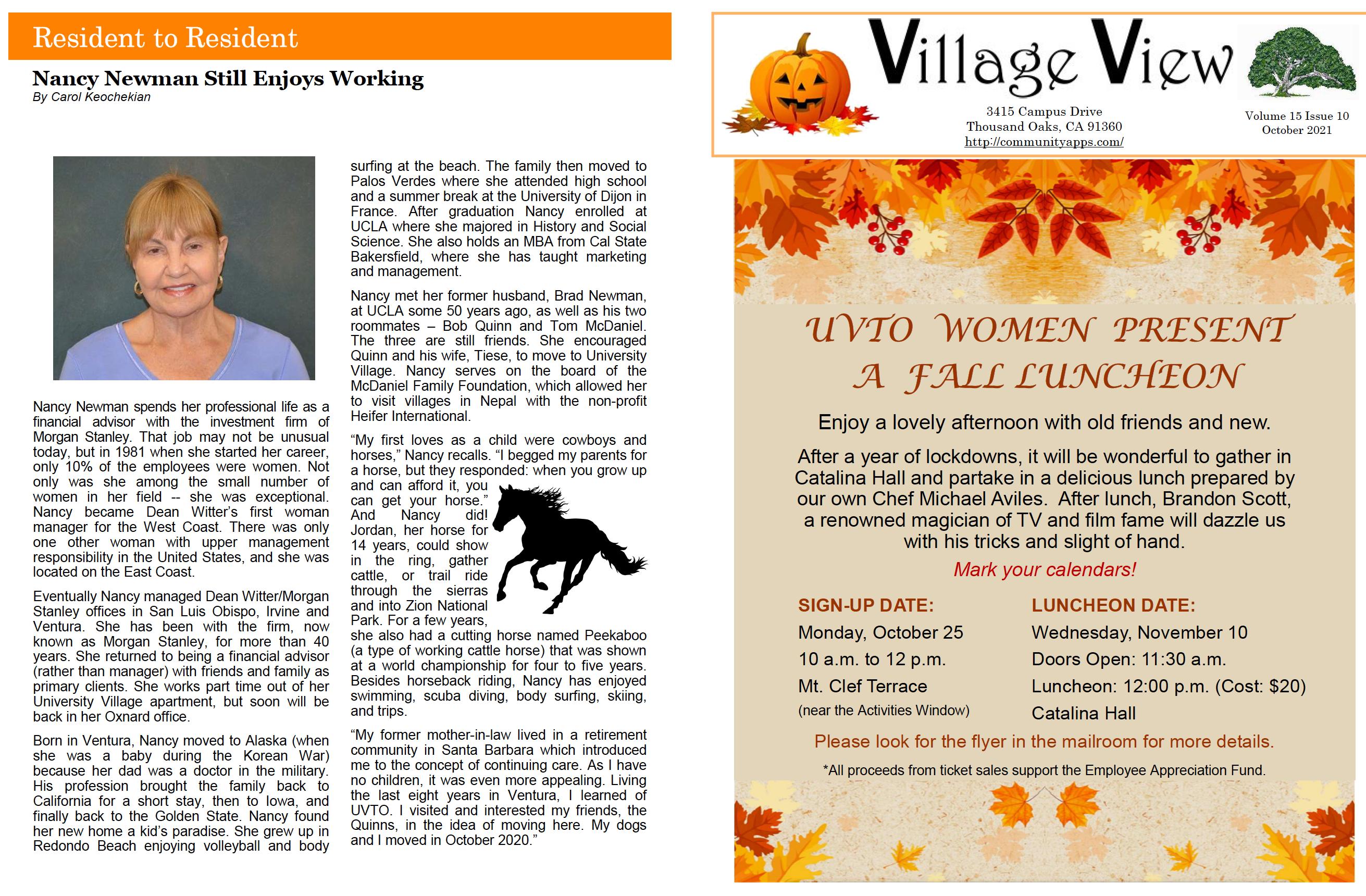 Village View October 2021