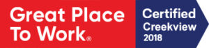 Great Place to Work Certified 2018 button