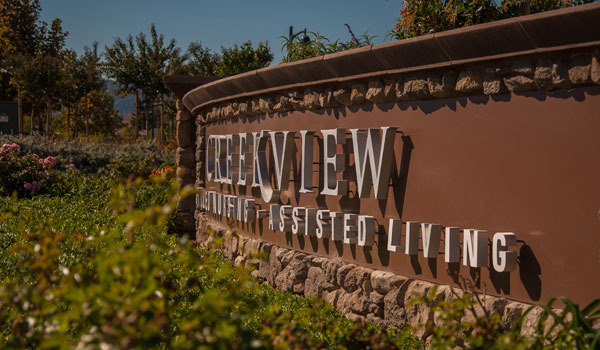 Creekview Health Center sign out front.