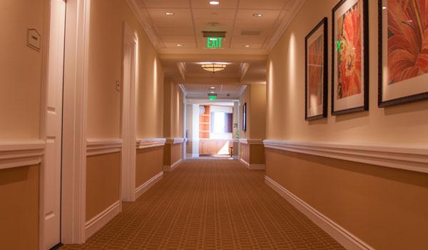 Resident room hallway.