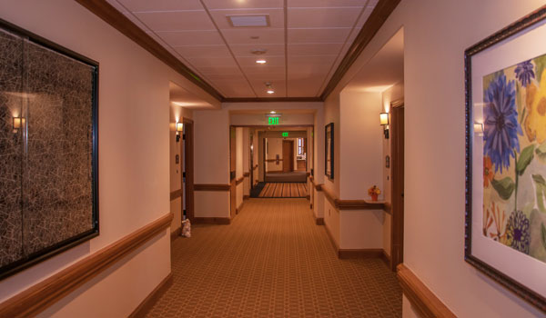 Resident rooms and hallway.