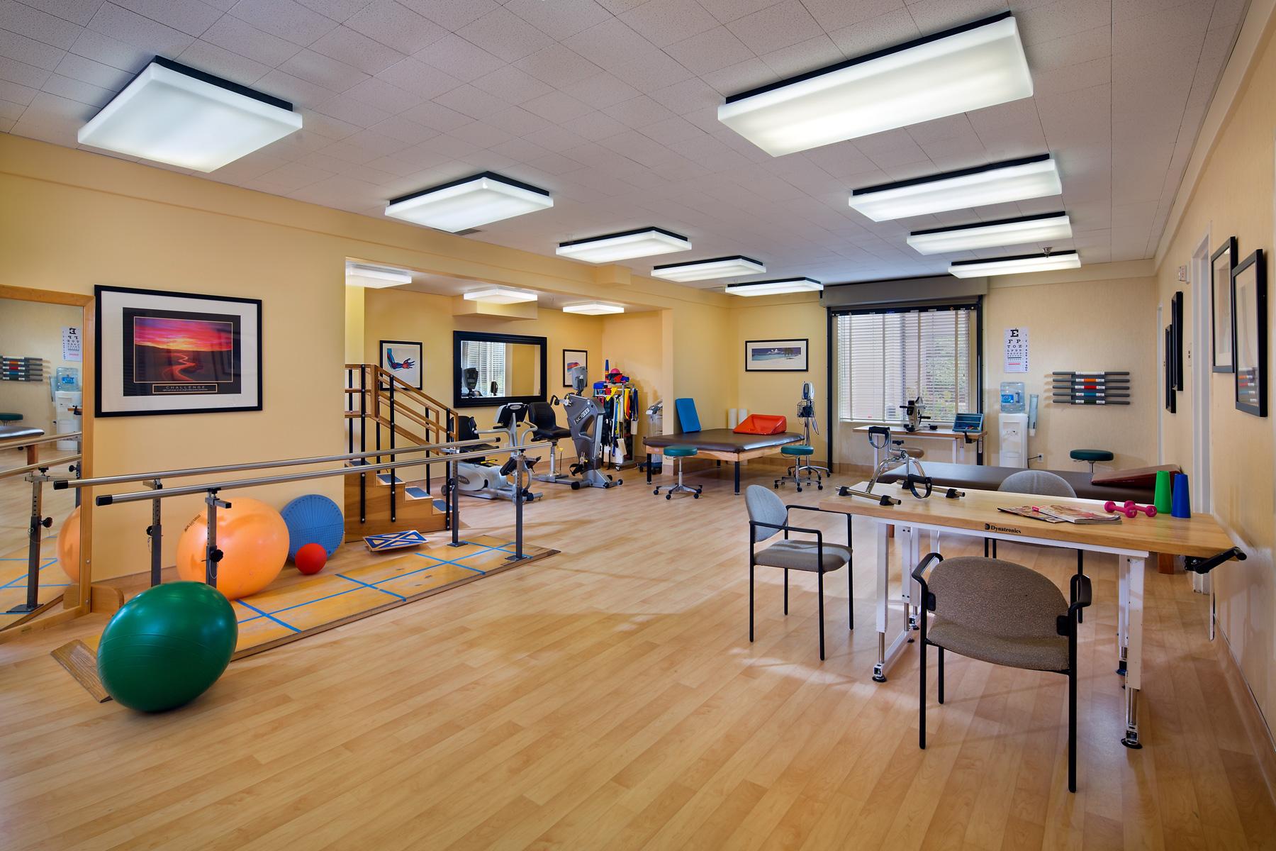 Rehabilitation gym.
