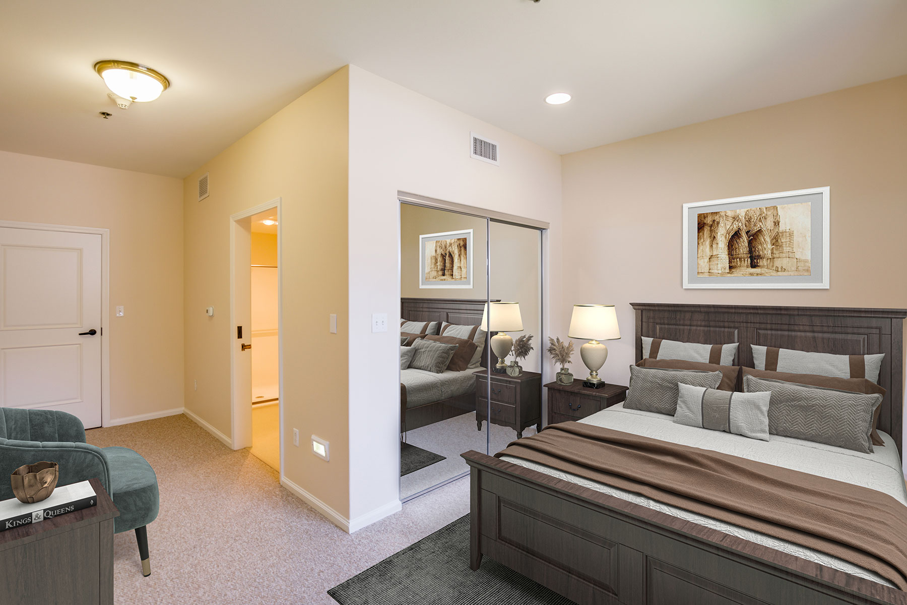 Memory Care resident bedroom
