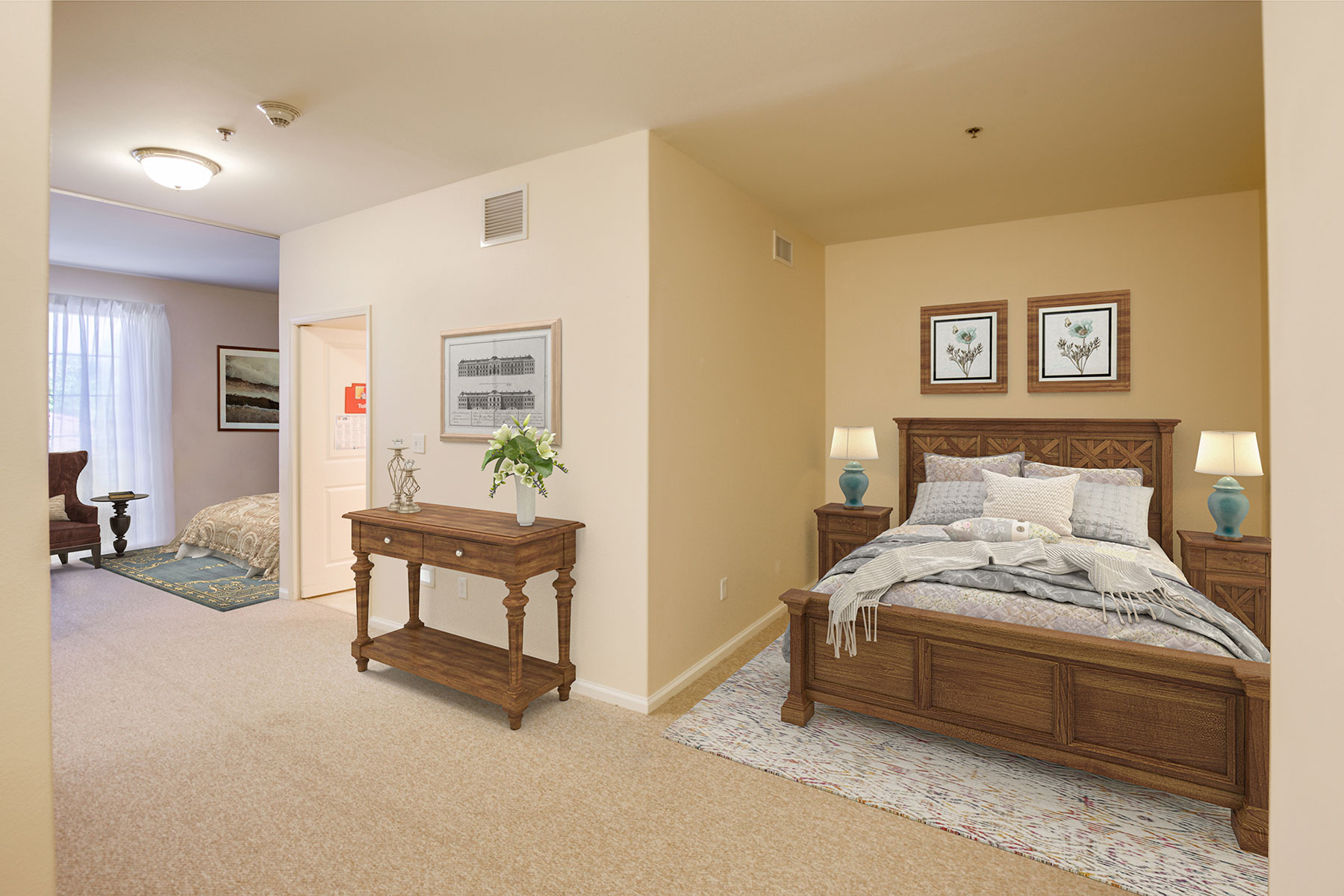 Memory Care double occupancy bedroom