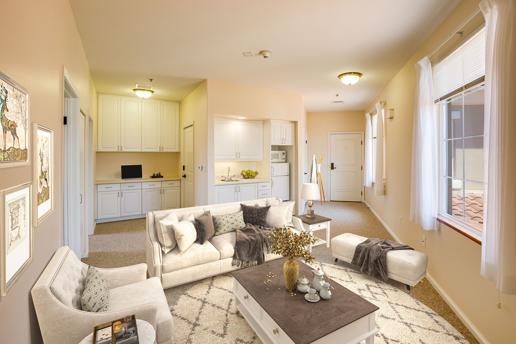 Assisted Living living room space.