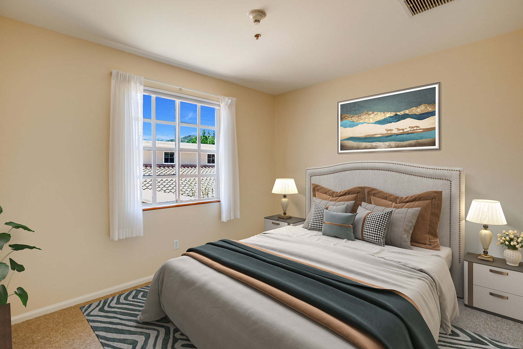 Assisted Living bedroom.