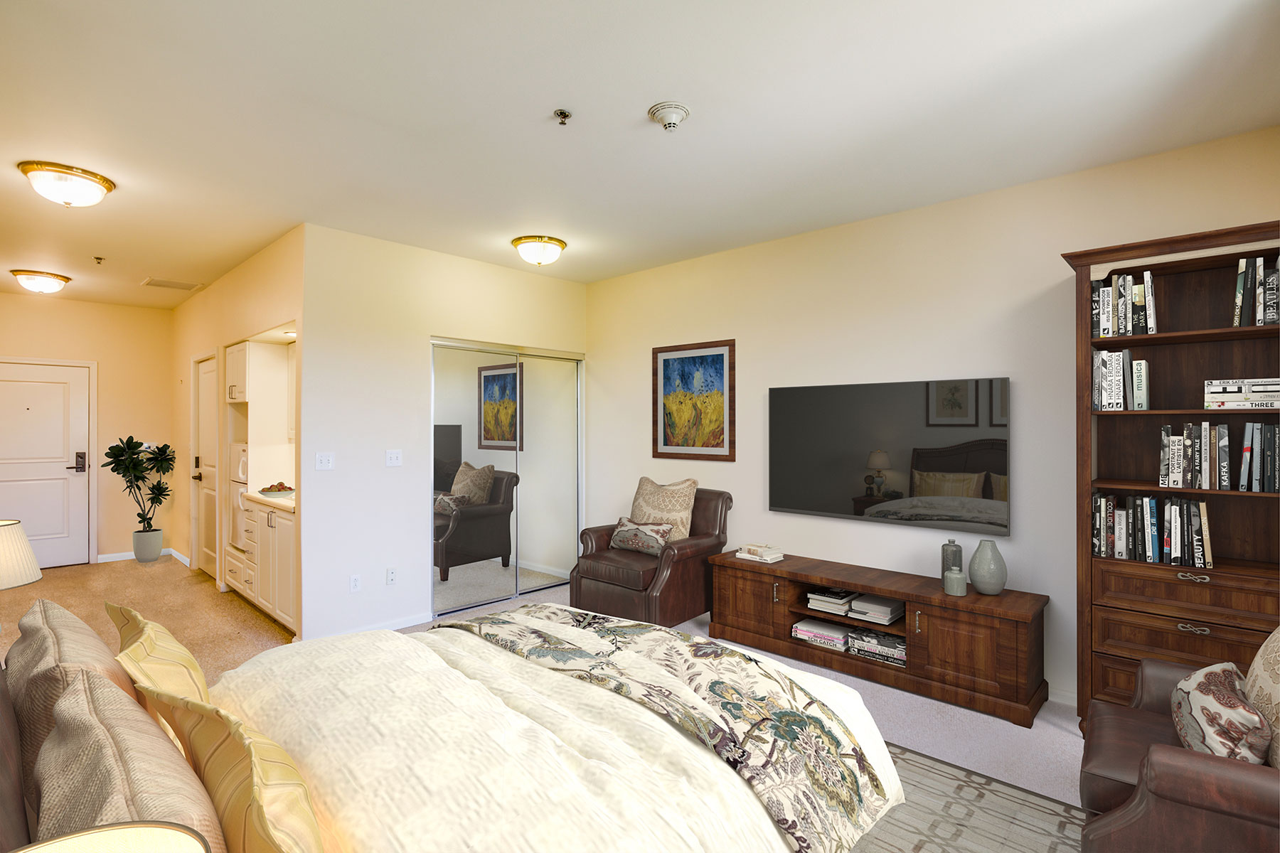 Assisted Living resident room.