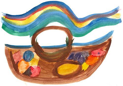 "Shirley Hartshorn Artwork ""Bowl of Fruit"""