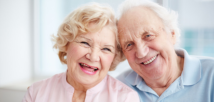 couple smiling and laughing together