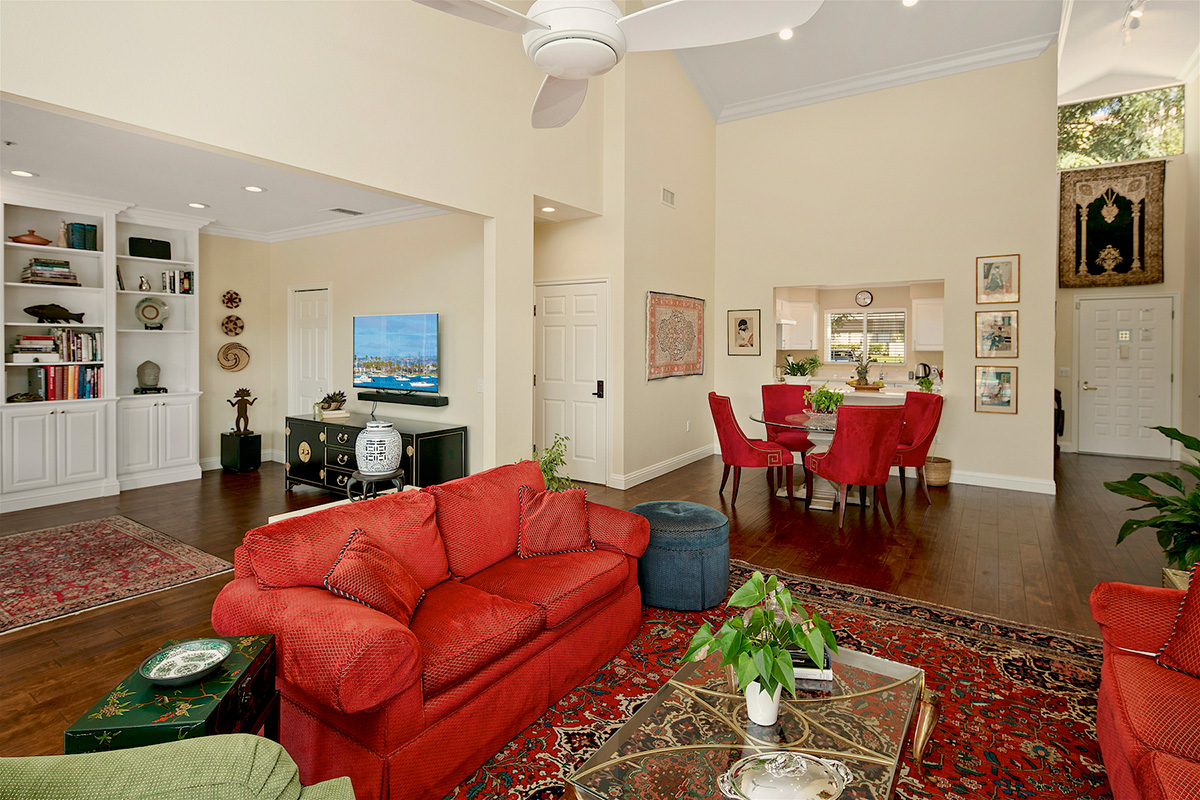 Living room with dining space.
